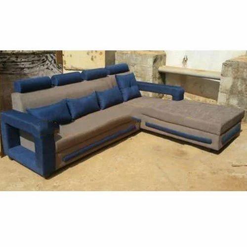 L Shape Corduroy Corner Sofa