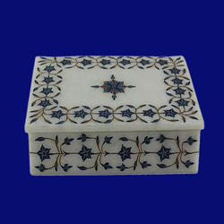 Rectangular Jewelry Box Of White Marble