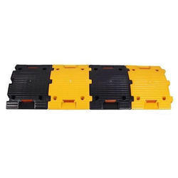 Yellow and Black PVC Speed Bump
