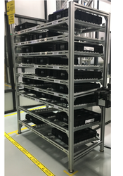 FIFO Rack with Rollers