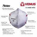 Venus V4400 N95 Niosh 42 Cfr 84 Approved Respirator V-4400 Mask Genuine