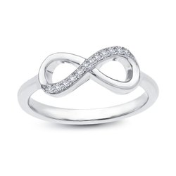 18K Gold Infinity Real Diamond Ring