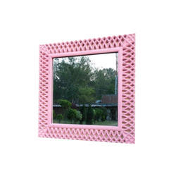 Furniture Cafe Designer Wall Mirror, Mirror Shape: Square