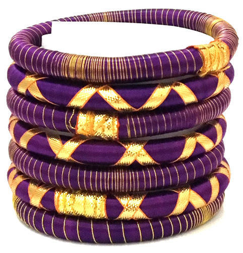 Indian Handcraft Shiny Style Silk Thread Bangles