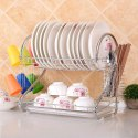Stainless Steel 2 Layer Plate & Bowl Stand Kitchen Stand