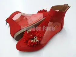 Women Leather Face - Ankle Length Shoes