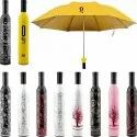 Bottle Umbrella Windproof Double Layer Umbrella with Bottle Cover