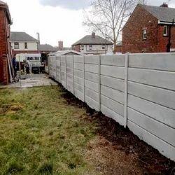 White Plaster Precast Concrete Readymade Compound Wall