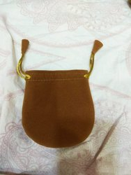 Beige Jewelry Pouch Bag