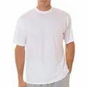 Mens White Sublimation Plain T Shirts