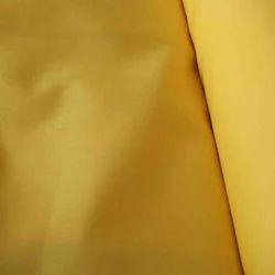 Yellow Plain Polyester Cotton Fabric