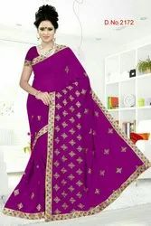 Heavy Embroidery Saree