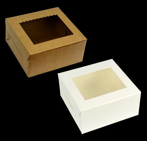 Cake Boxes White Amp Brown Cake Box With Window