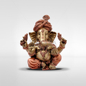 Brass Mantra Gold Plated Pagadi Ganesha Statue