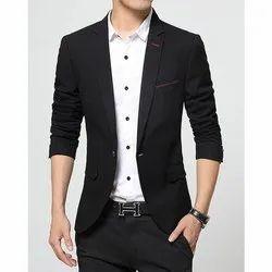 Cotton Formal Boys Black Party Wear Blazer
