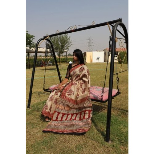 Unstitched Ladies Fancy  Chanderi Saree, 6.3 M (with Blouse Piece)