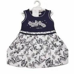 Cotton Casual Wear Purple Baby Dress