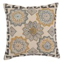 Floral Embroidered Off-White Cotton Cushion Cover