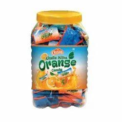 Orange Candy Jar