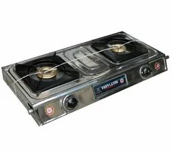 Stainless Steel Two LPG Gas Stove
