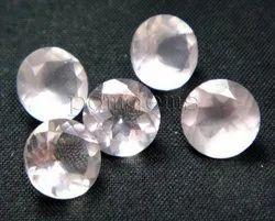 Rose Quartz Faceted Round Lot Gemstone