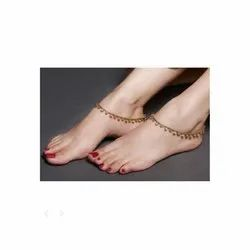 Party Wear Gold Drops Anklet
