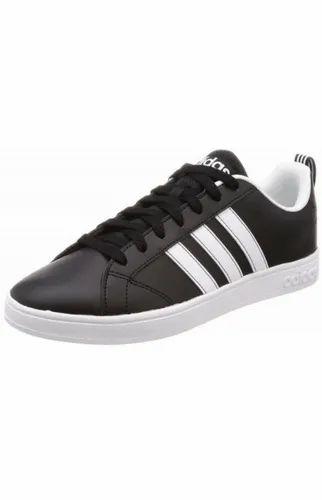 Adidas Neo Men's Vs Advantage Leather Sneakers Black White( F99254)