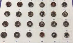 Brown Round Wood Button For Shirt, Packaging Type: Packet