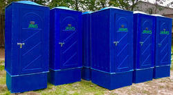 Blue FRP Bio Toilet