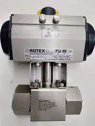 Stainless Steel High Pressure Actuated Ball Valve for Water