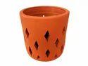 Terracotta Orchid Planter For Garden, Size: Medium