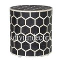 Hexadic Noire Bone Inlay Bedside