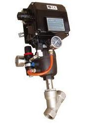 Angle Seat Valve with Electro Pneumatic Positioner