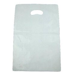 Plain White D Cut Handle Bag