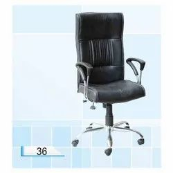 Black Leather (Seat) Chair, For Office