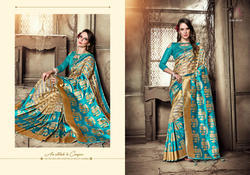 bf69e7f71b06b Organza Silk Kanjeevaram Art Saree with Blouse Piece