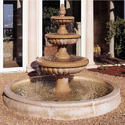 Brown Stone Fountain