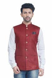 Khadi Style Nehru Jacket Waistcoat