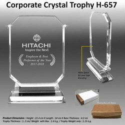 Corporate Crystal Trophy H-657