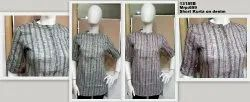 Cotton  stripes work wear  Ladies Casual Kurtis