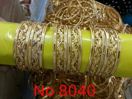 45d99b52ee190 Brass Meenakari Bangles
