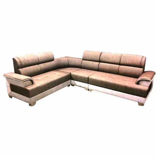 Wooden And Velvet Designer L Shape Sofa Set Warranty 5 Years Rs