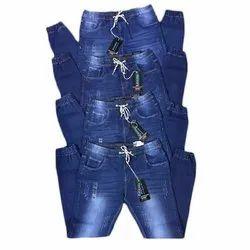 Blue Men Denim stretchable Jogger Pant
