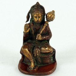 Capstona Brass Hanuman Ji Sitting Idols