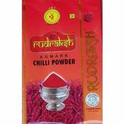 Rudraksh Chilli Powder, 500 g, Packaging: Plastic Pouch