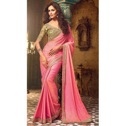 Wedding Wear Cotton Silk Fancy Saree, 5.5 m (separate blouse piece)