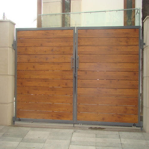 Wall And Gate Cladding - Exterior Wooden Cladding Gates ...