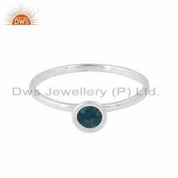 925 Silver London Blue Topaz Gemstone Girls Ring