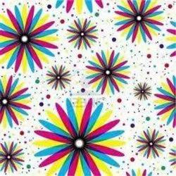 Pvc Plain Floral Wallpaper