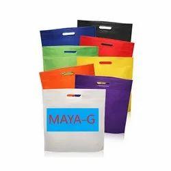 Biodegradable Plain Pure Virgin Non Woven D Cut Carry Bag for Shopping